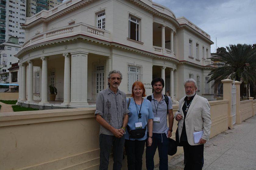 Željka Lovrenčić, Tomislav Marijan Bilosnić i Marko Gregur na pjesničkom festivalu u Havani
