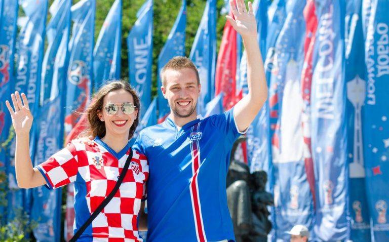 Hrvatski i Islandski navijači u Rostovu na Donu