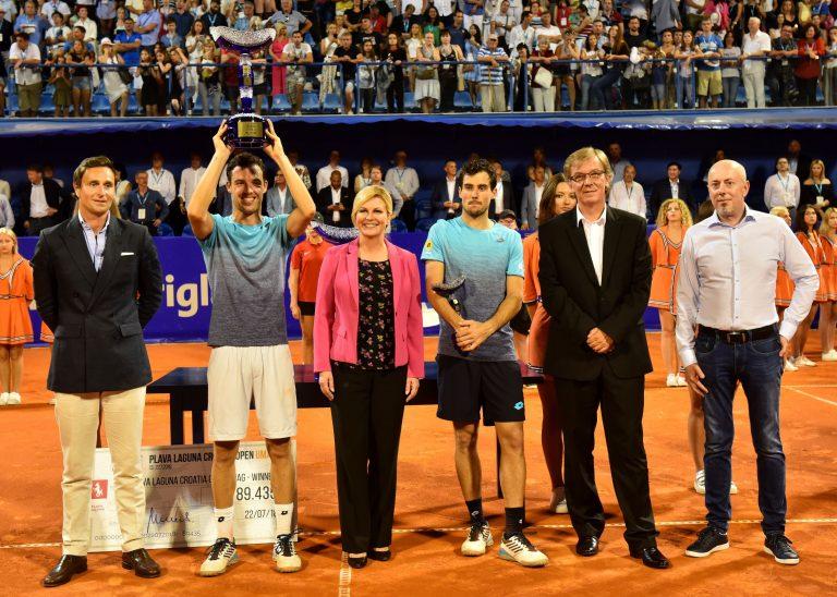 Predsjednica na finalnom meču ATP turnira u Umagu