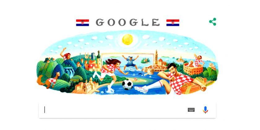 Google promijenio naslovnicu u čast ulaska Hrvatske u finale