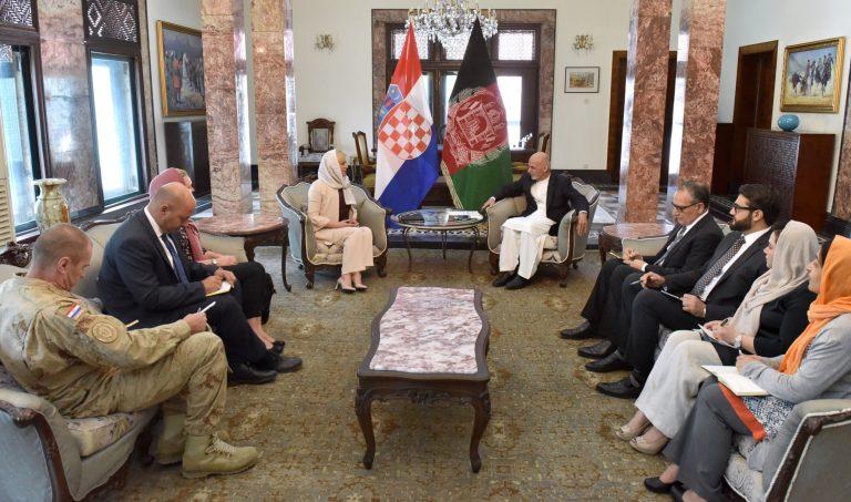 Predsjednica održala sastanke s predsjednikom Islamske Republike Afganistana i glavnim izvršnim dužnosnikom
