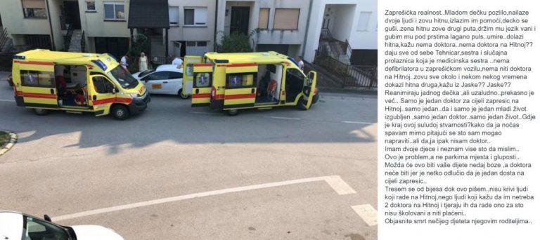 Zašto je umro mladi pacijent u Zaprešiću
