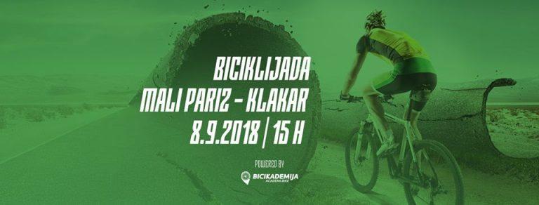 Biciklijada Mali Pariz – Klakar 2018