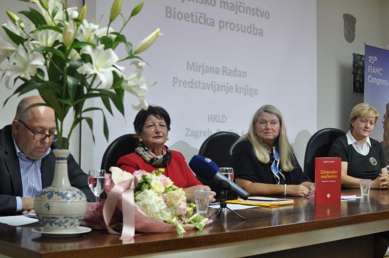 Predstavljena knjiga dr. Mirjane Radan: Zamjensko majčinstvo – bioetička prosudba / FOTO!