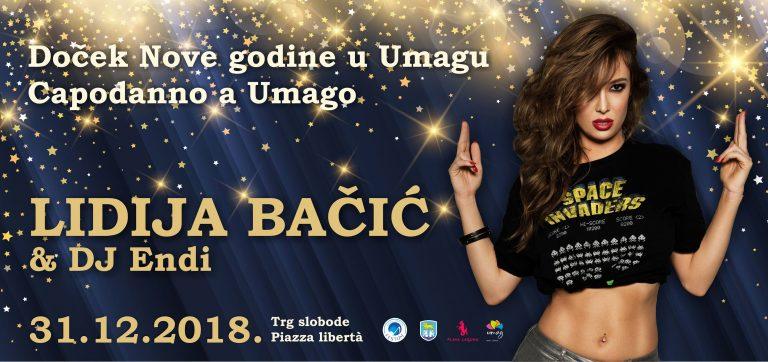 Za doček Nove godine Lidija Bačić u Umagu