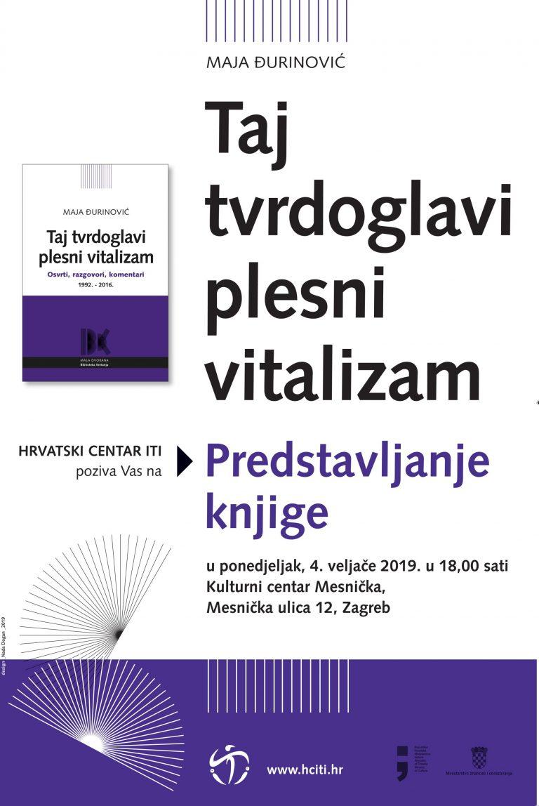 """Promocija knjige """"Taj tvrdoglavi plesni vitalizam"""" Maje Đurinović"""