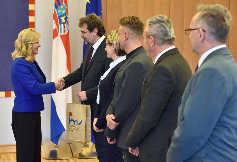Predsjednica primila Tomislava Žigmanova i izaslanstvo Hrvatskog nacionalnog vijeća u Republici Srbiji
