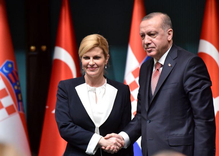 Susret Predsjednice Republike Hrvatske i Predsjednika Republike Turske