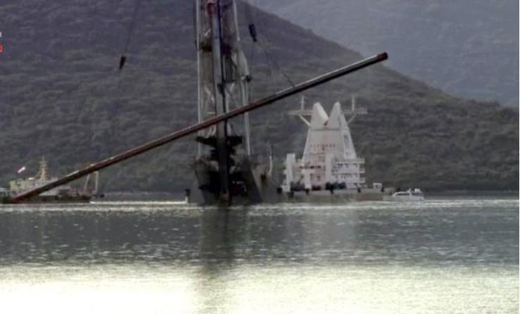 Počelo postavljanje prvog stalnog pilota Pelješkog mosta