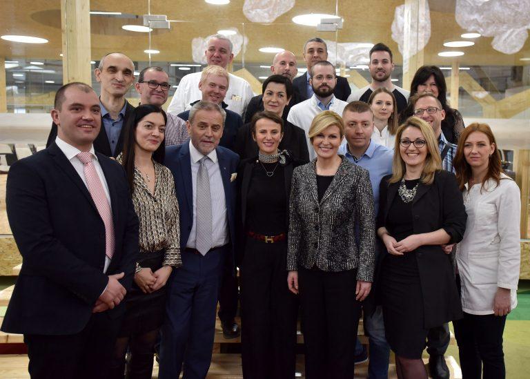 Predsjednica posjetila Zagrebački inovacijski centar i naselje Podbrežje