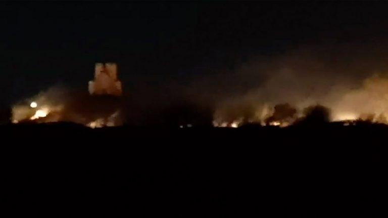 Veliki požar u Ninu na buri