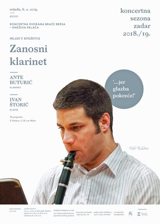 Najava koncerta – Zanosni klarinet