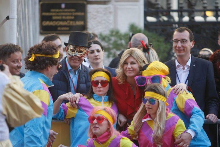 Predsjednica RH Kolinda Grabar-Kitarović na Riječkom karnevalu