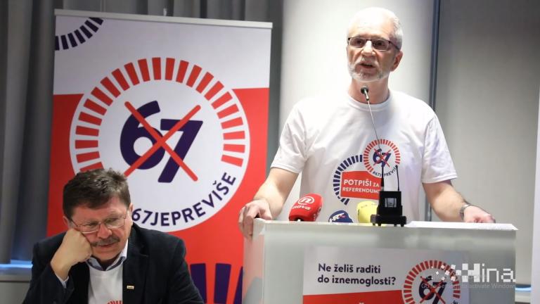 Sindikati će prikupljati potpise za referendum za odlazak u mirovinu sa 65 godina