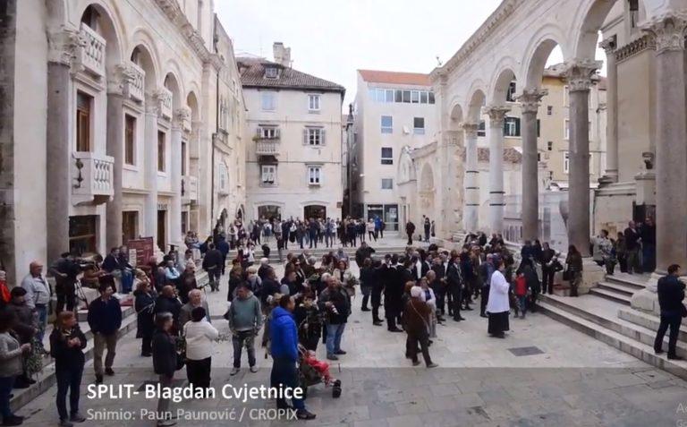 Misa i procesija povodom blagdana Cvjetnice u katedrali Svetog Duje