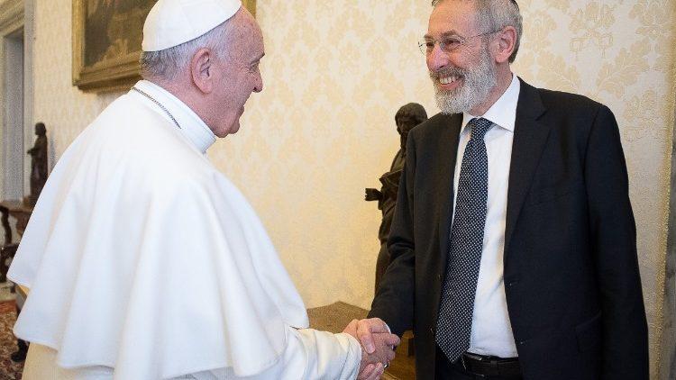 Papa Franjo i glavni rimski rabin Riccardo Di Segni razmijenili čestitke