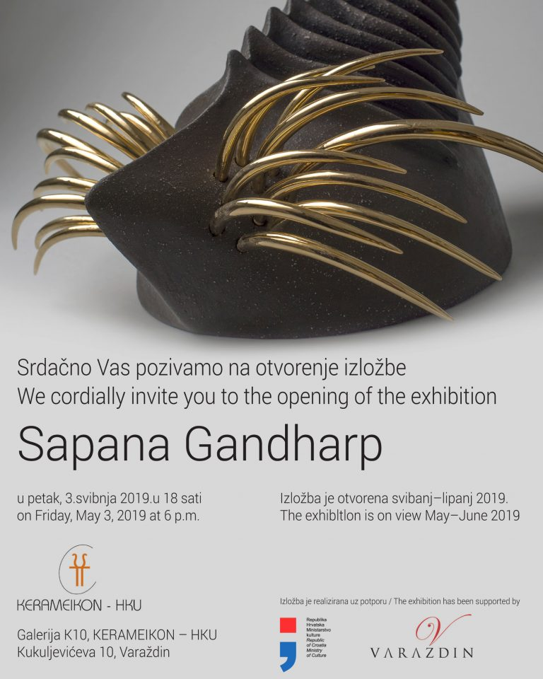 Sapana Gandharb izlaže keramičke skulpture u Galerija K10, KERAMEIKON