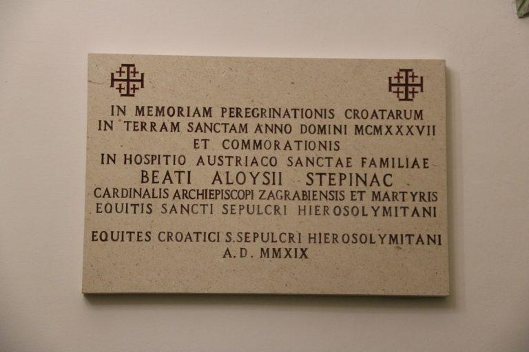 U Jeruzalemu otkrivena spomen-ploča bl. Stepincu