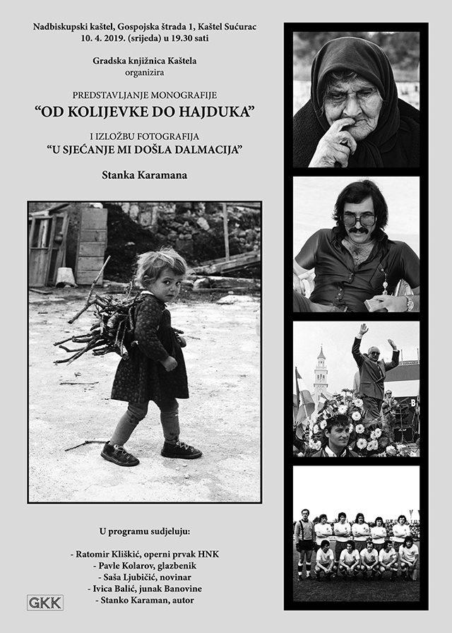 """Predstavljanje monografije """"Od kolijevke do Hajduka"""" i izložba """"U sjećanje mi došla Dalmacija"""" Stanka Karamana"""