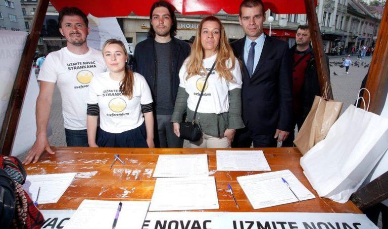 'Imamo dovoljan broj potpisa za raspisivanje referenduma o zabrani financiranja političkih stranaka'