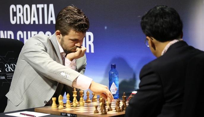 U 2. kolu šahovskog Croatia Grand Chess Toura u Zagrebu odlučena samo jedna partija