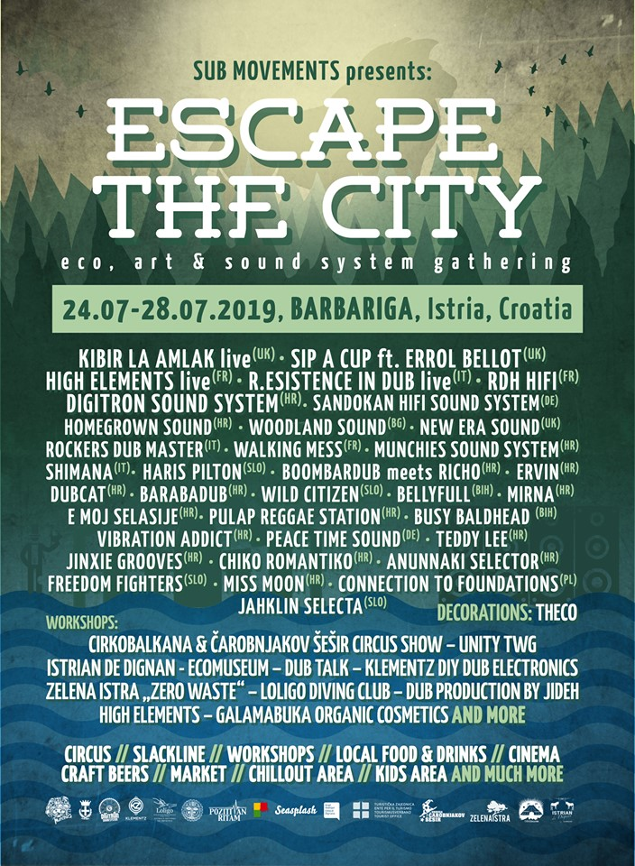 Escape the city festival – Barbariga od 24. do 28. srpnja