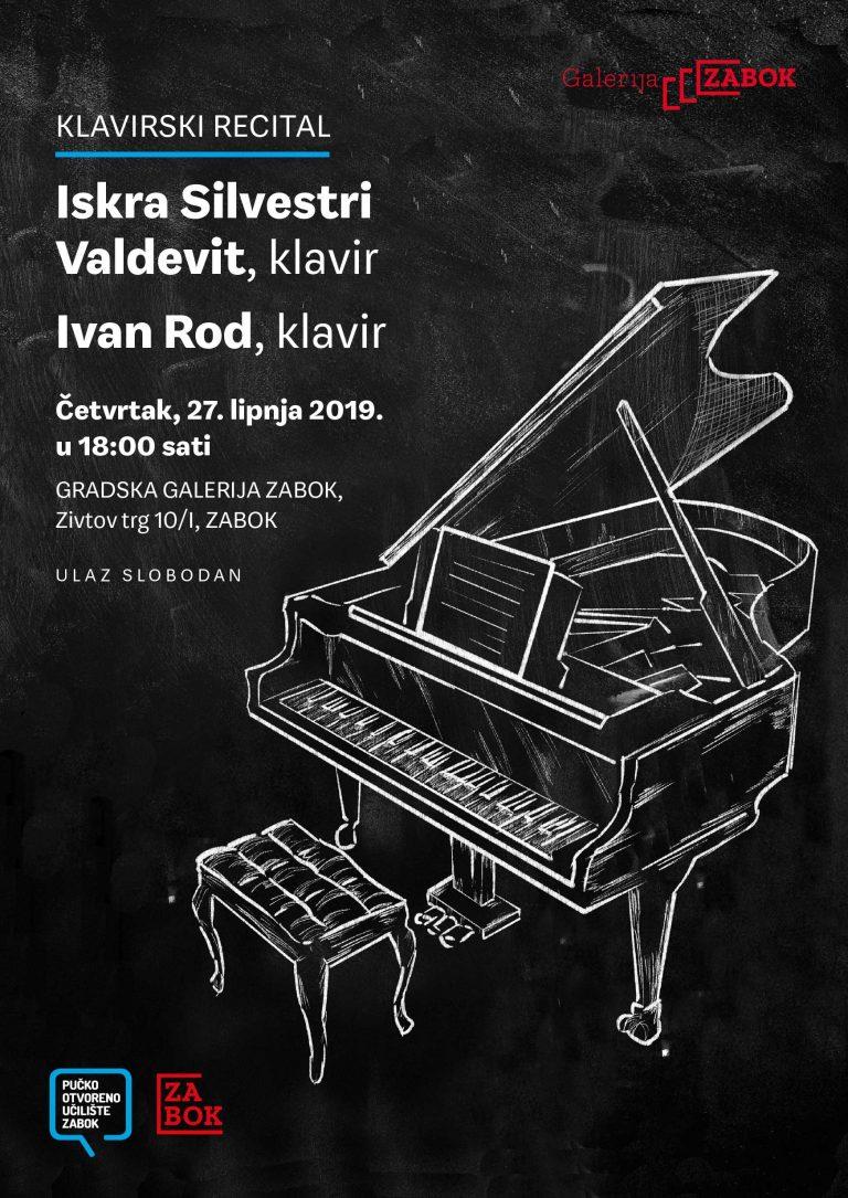 KLAVIRSKI RECITAL: Iskra Silvestri Valdevit i Ivan Rod