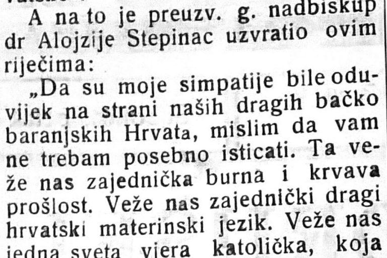 PRONAĐEN STEPINČEV GOVOR OBJAVLJEN U »SUBOTIČKIM NOVINAMA« – Veže nas naš zajednički dragi hrvatski materinski jezik«