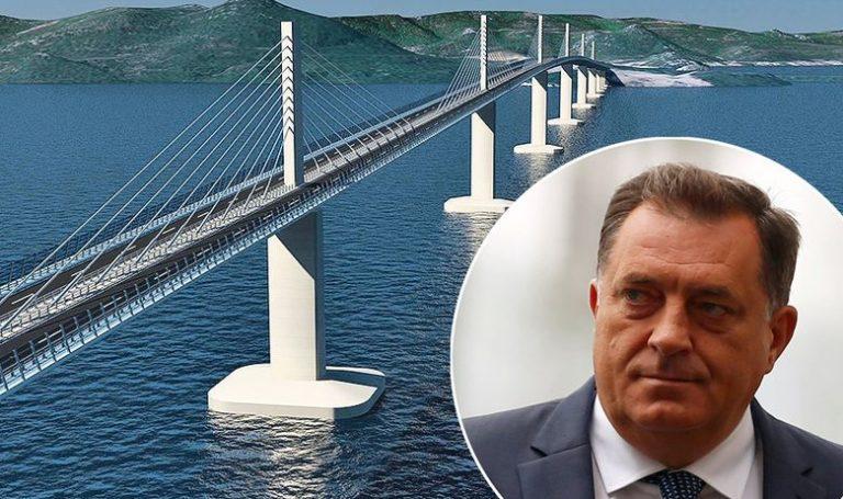 Dodik u obrani Pelješkog mosta: Ponovno ću u parlamentu spriječiti preglasavanje