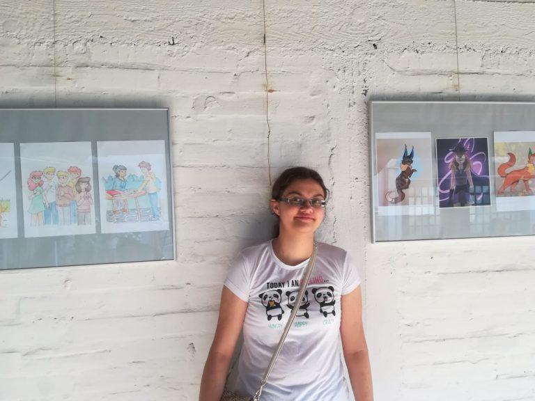 Pop-up izložba Estere Balog na završetku Križevačkog likovnog ljeta