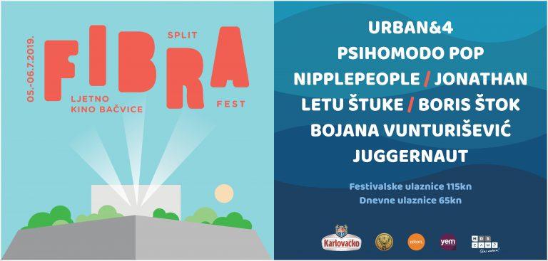 Urban&4, Letu Štuke, Psihomodo pop, Boris Štok i Nipplepeople na Fibra festivalu u Splitu