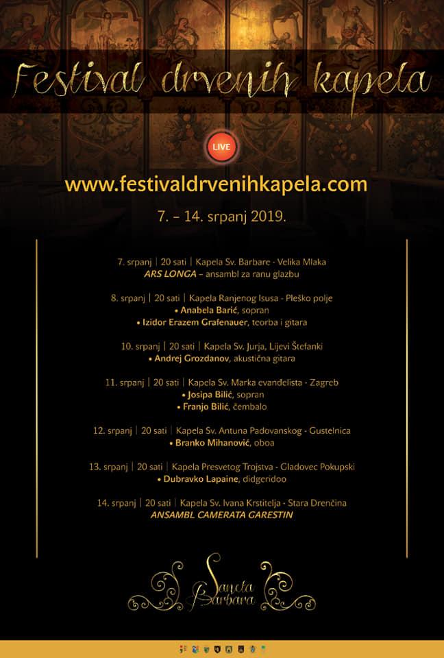Festival drvenih kapela / Program!
