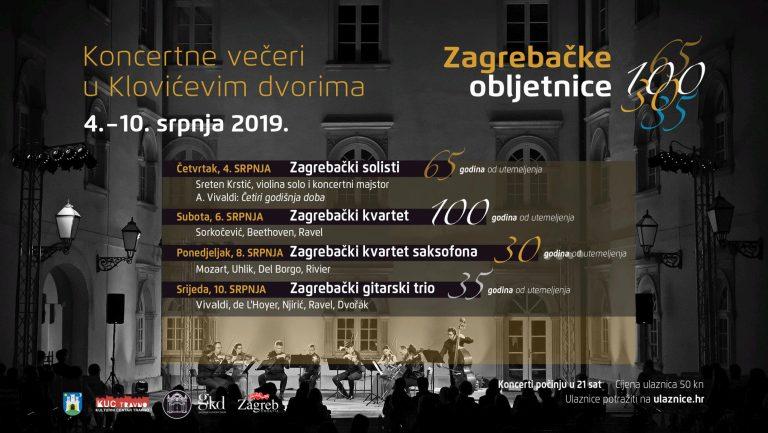 Zagrebačke obljetnice – novi koncerti ciklus u atriju Klovićevih dvora / Program!