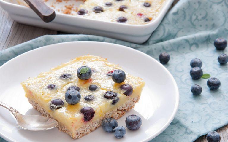 Cheesecake kocke s borovnicama
