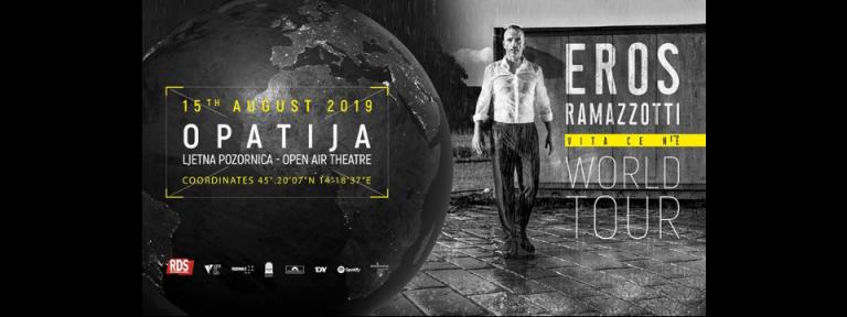 Eros Ramazzotti u Opatiji, 15. kolovoza