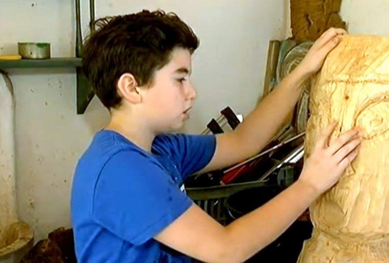 Desetogodišnji Antonio želi biti najbolji kipar na svijetu