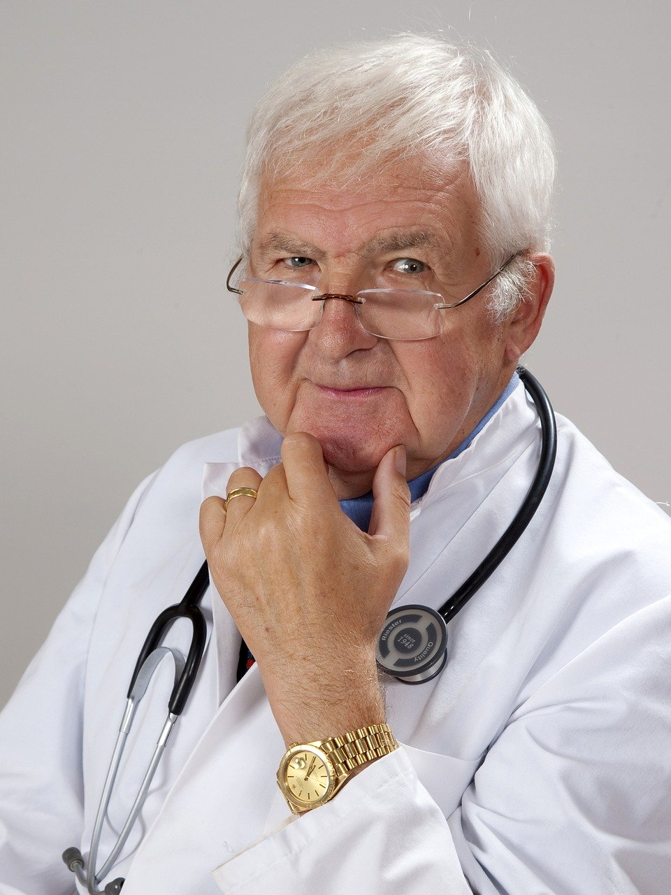 doctor, gray hair, experience