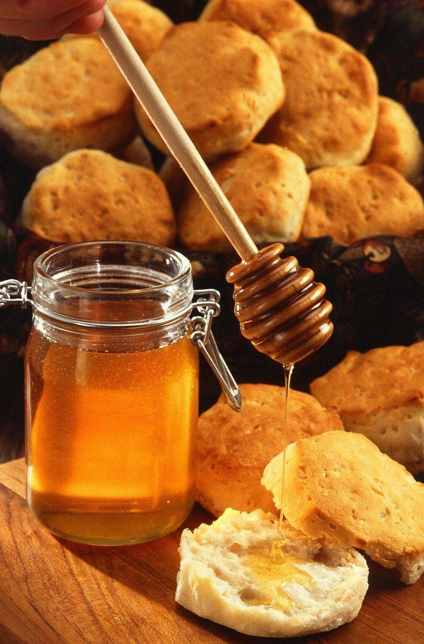 honey, cookies, biscuits
