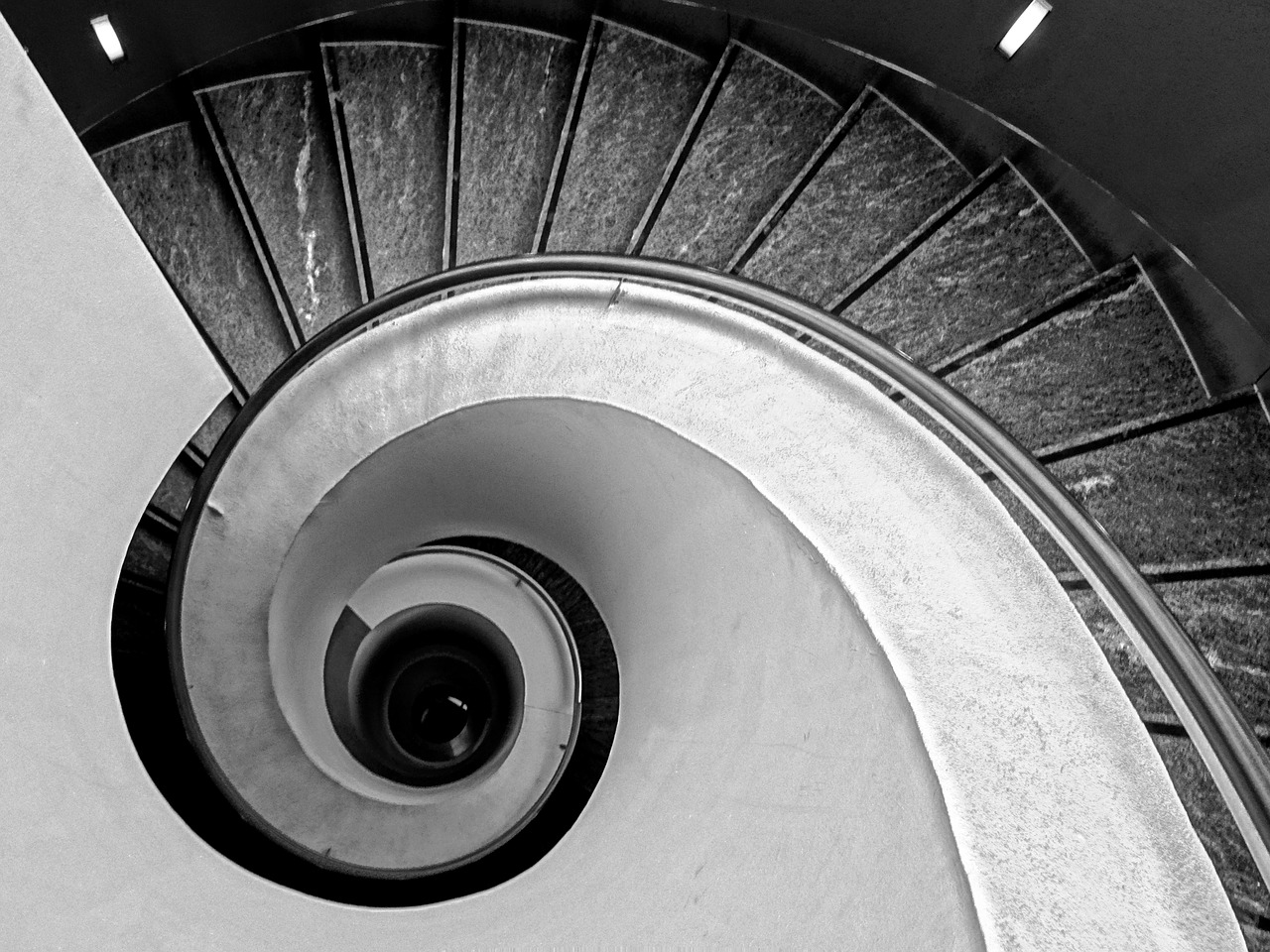 stairs, spiral staircase, spiral