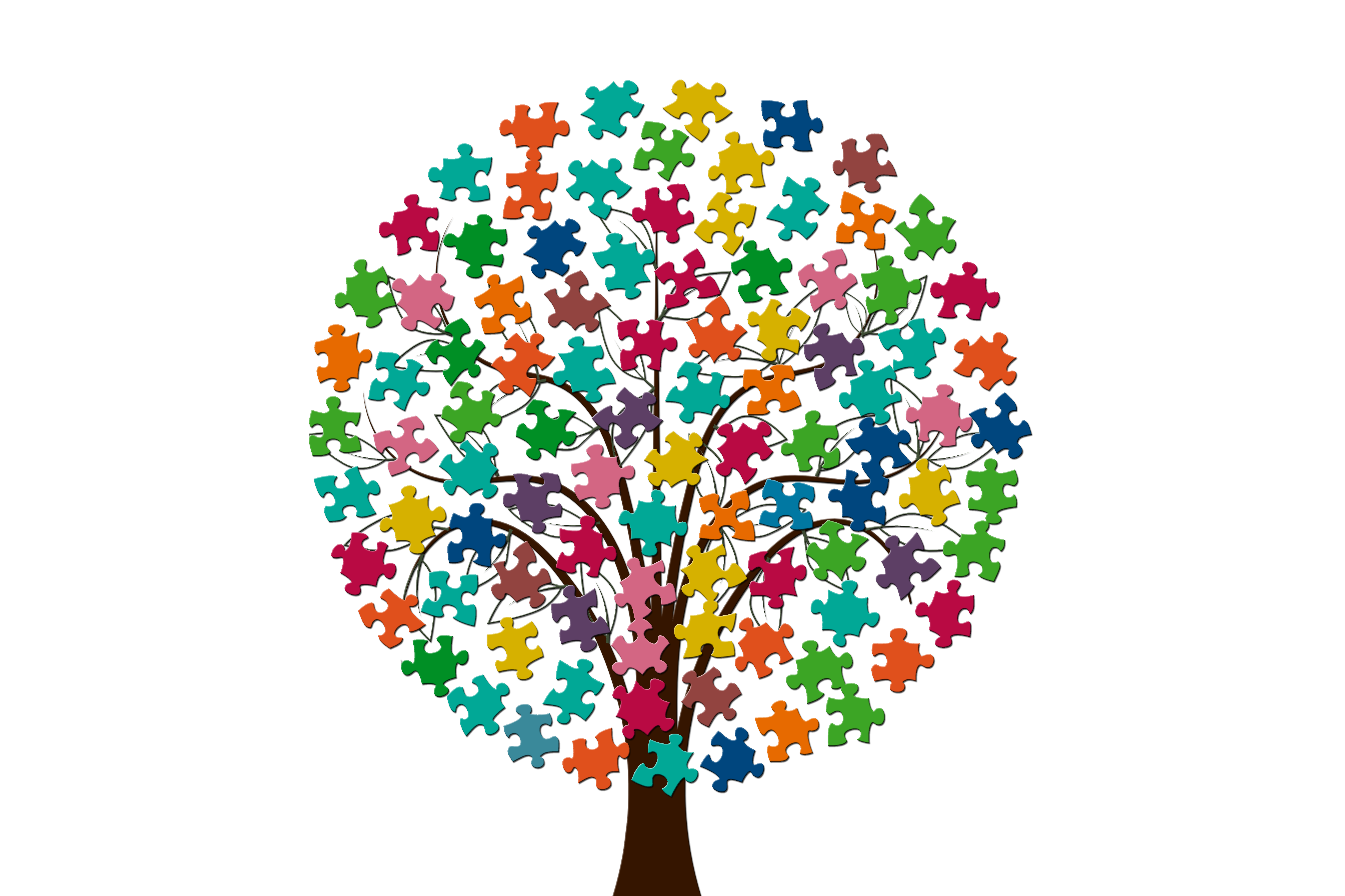 tree, share, pieces of the puzzle
