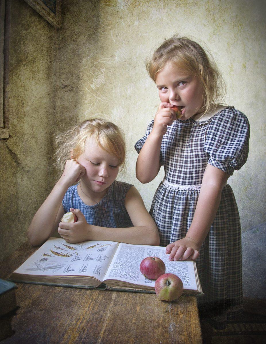 kids, book, retro