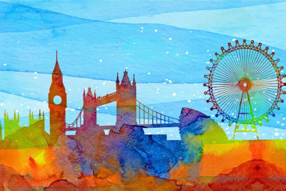 london watercolor, london, big ben