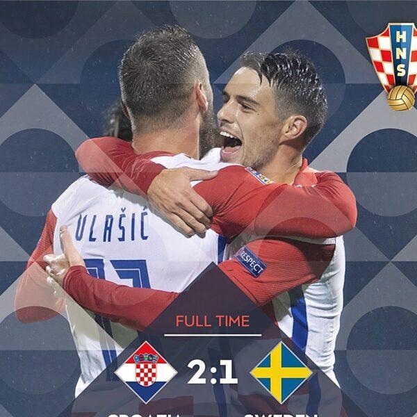 Hrvatska svladala Švedsku s 2-1 u Zagrebu