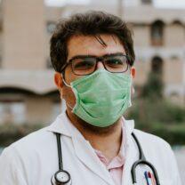 Medical doctor fighting Corona virus.