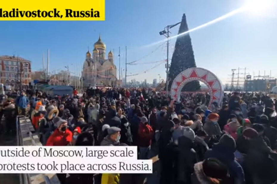 Više od 2.700 uhićenih u  Rusiji u vrijeme protesta za Navalnyja