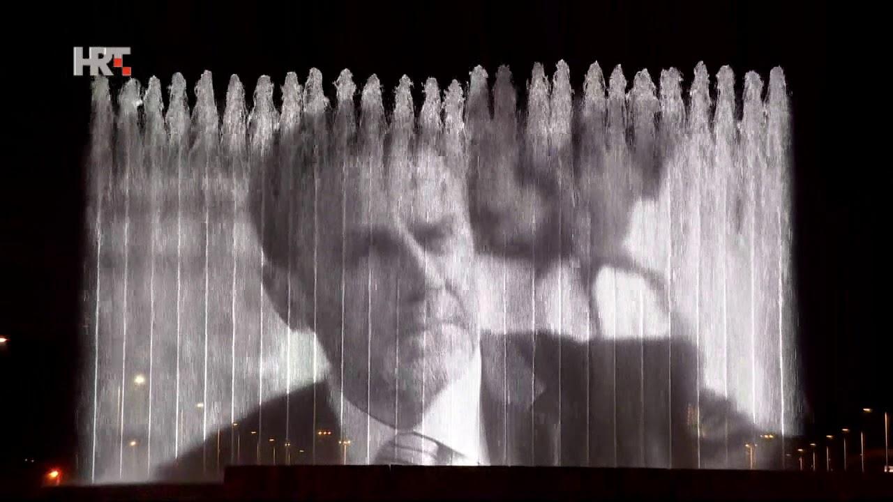 Fontane osvijetljene s likom Milana Bandića