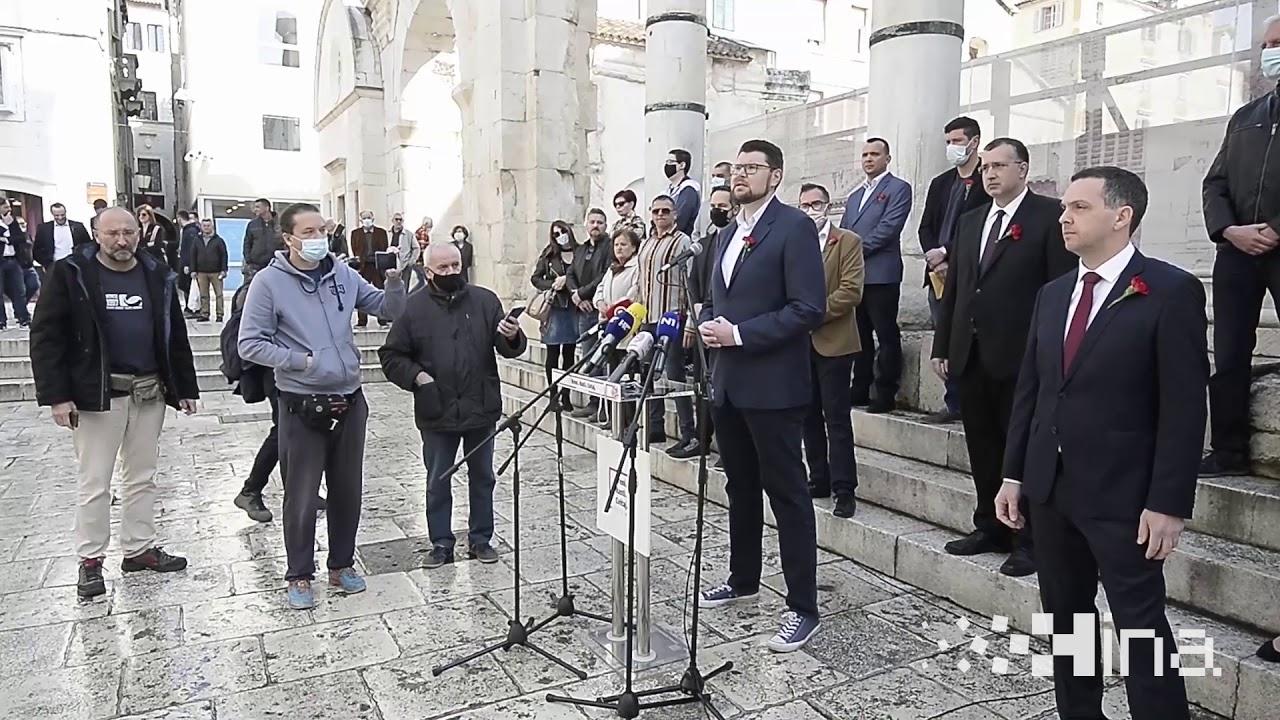 Izjava Peđe Grbina u Splitu