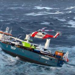 Spašavanje posade s nizozemskog broda po olujnom vremenu