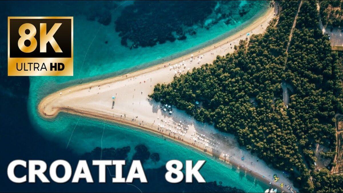 Hrvatska u pedeset nijansi plave boje / 8K HD Drone Video