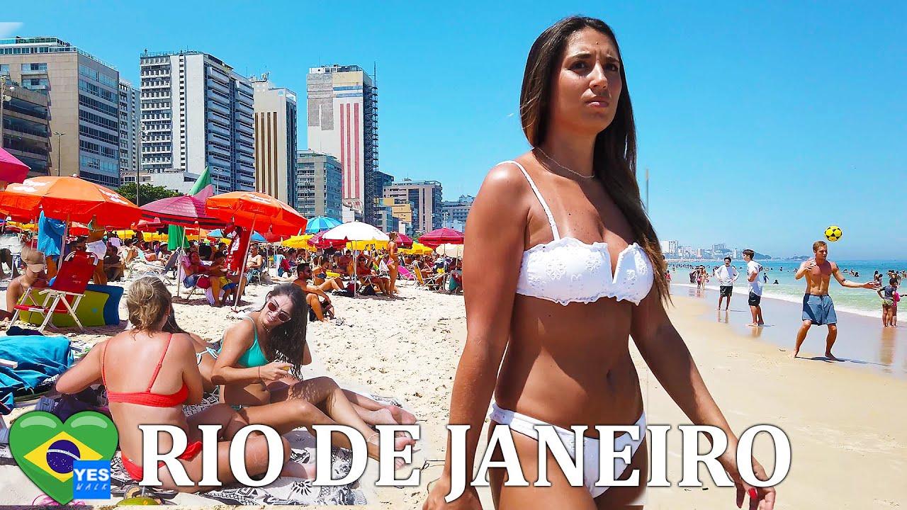 LEBLON PLAŽA, RIO DE JANEIRO BRAZIL LJETO 2021